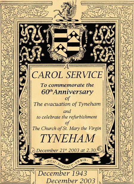 Tyneham: A Tribute: Carol Service at the Church of St Mary the Virgin